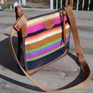 Fossil stripe large crossbody purse bag tote